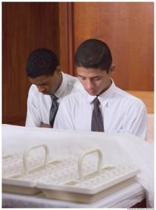 Blessing the Mormon Sacrament